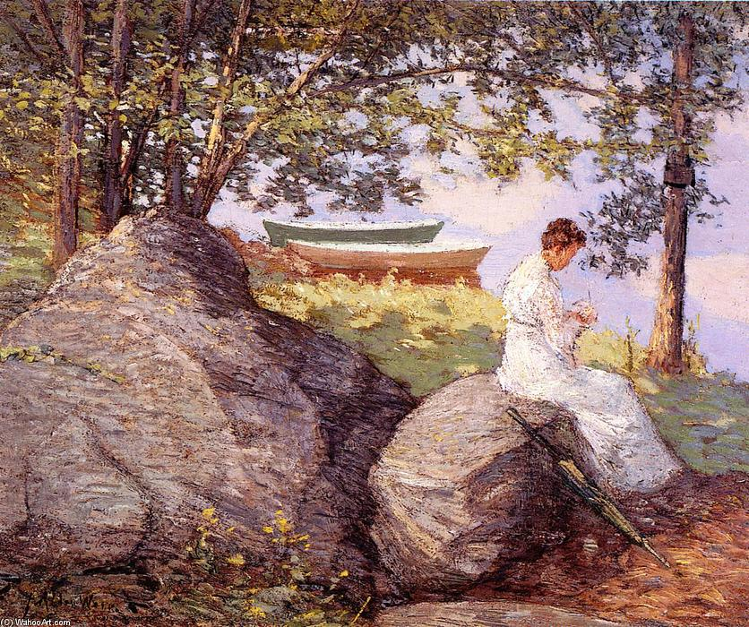 famous painting On the Shore of Julian Alden Weir
