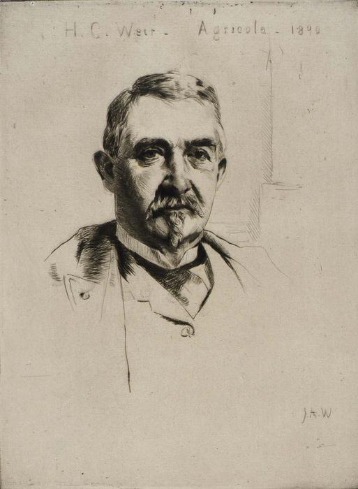 famous painting Portrait of Colonel H.C. Weir (Agricola) 1 of Julian Alden Weir