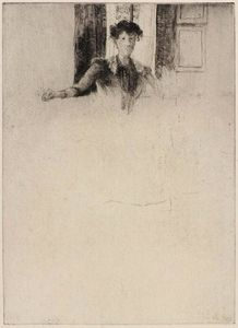 Julian Alden Weir - Sketch by the Window