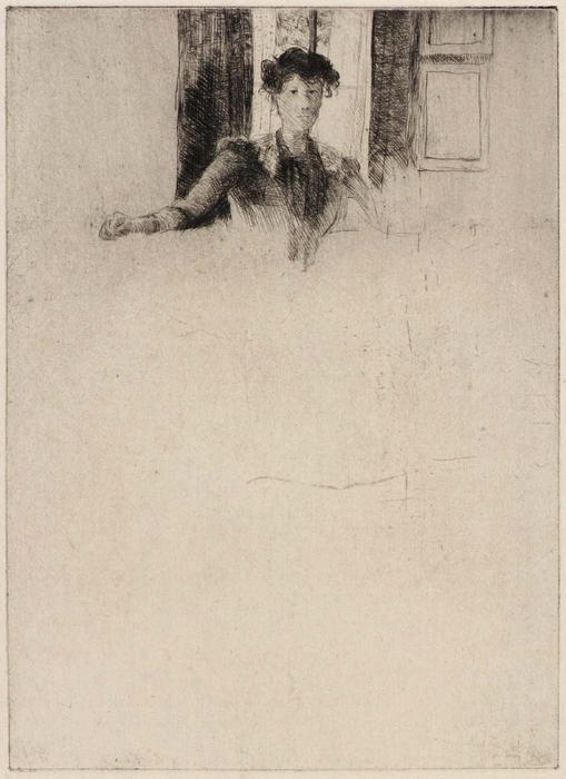 famous painting Sketch by the Window of Julian Alden Weir