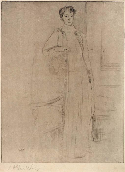 famous painting Standing Figure no. 1 of Julian Alden Weir