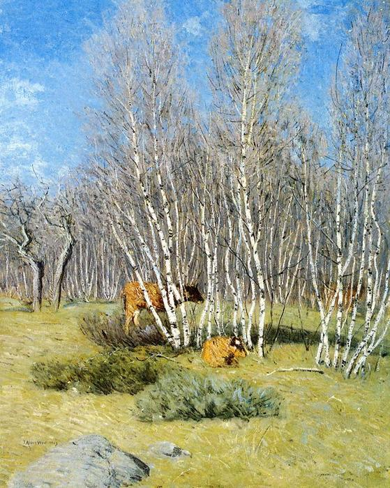 famous painting The Birches of Julian Alden Weir