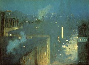 Julian Alden Weir - The Bridge Nocturne aka Nocturne Queensboro Bridge