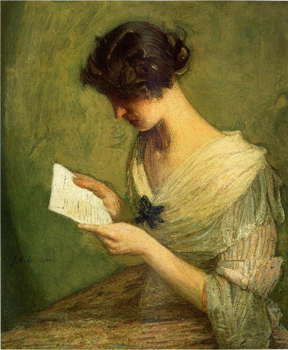 famous painting The Letter of Julian Alden Weir