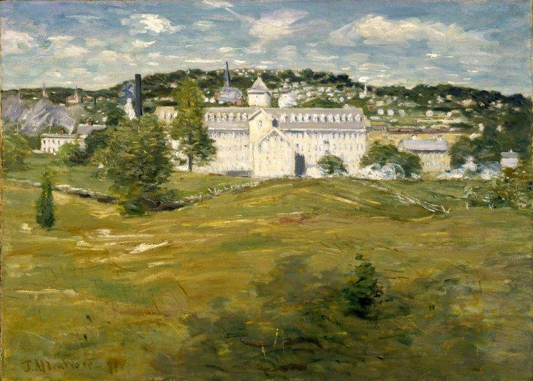 famous painting Willimantic Thread Factory of Julian Alden Weir