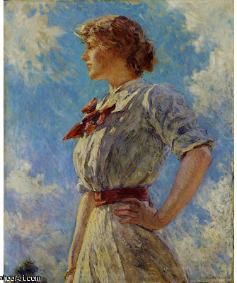 famous painting Against The Sky of Robert Lewis Reid