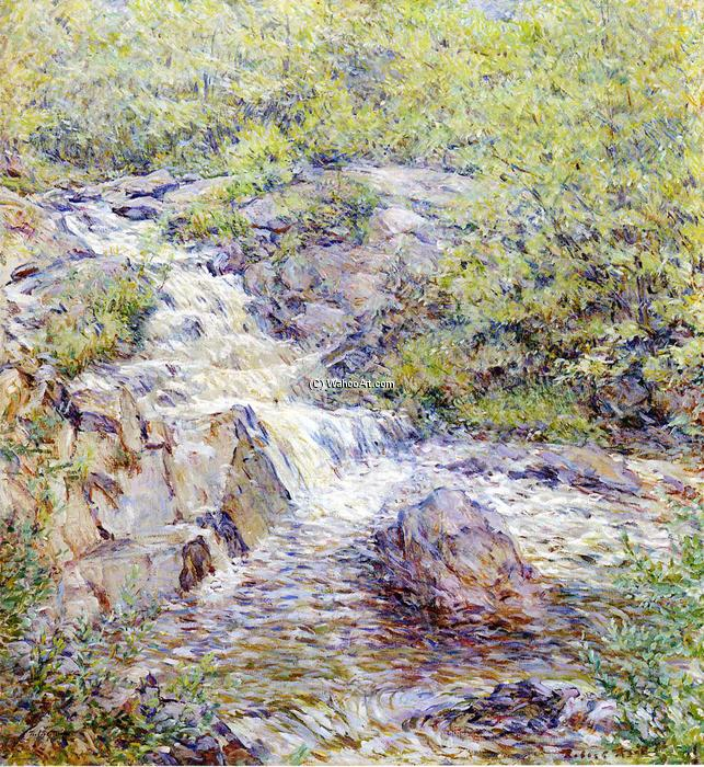 famous painting Buttermilk Falls of Robert Lewis Reid