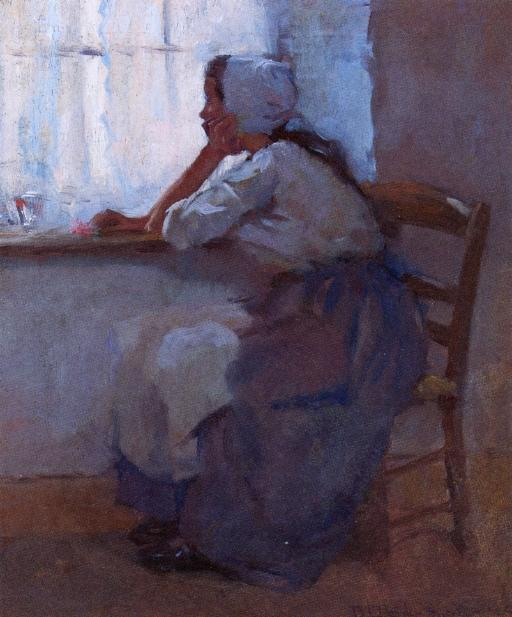 famous painting Girl at the Window of Robert Lewis Reid