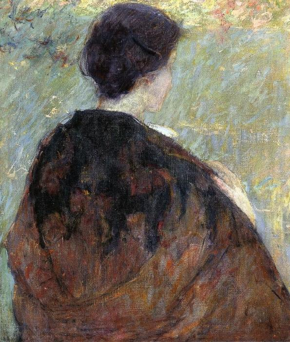 famous painting Paisley Shawl of Robert Lewis Reid