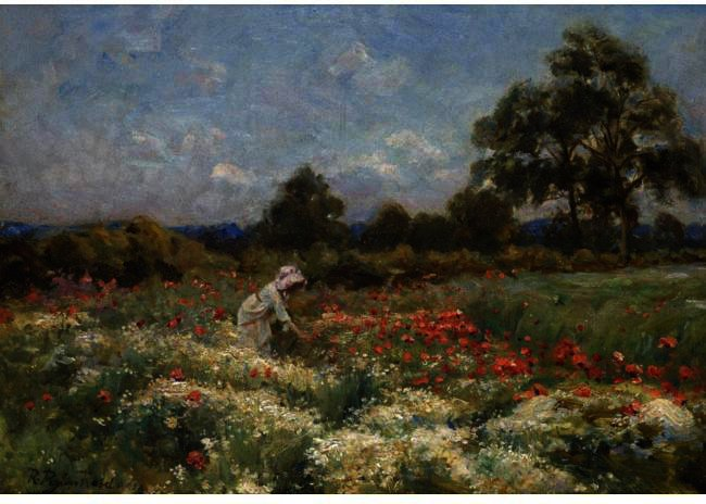 famous painting Picking Poppies of Robert Lewis Reid