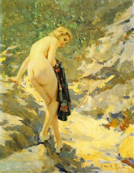 famous painting The Bather of Robert Lewis Reid