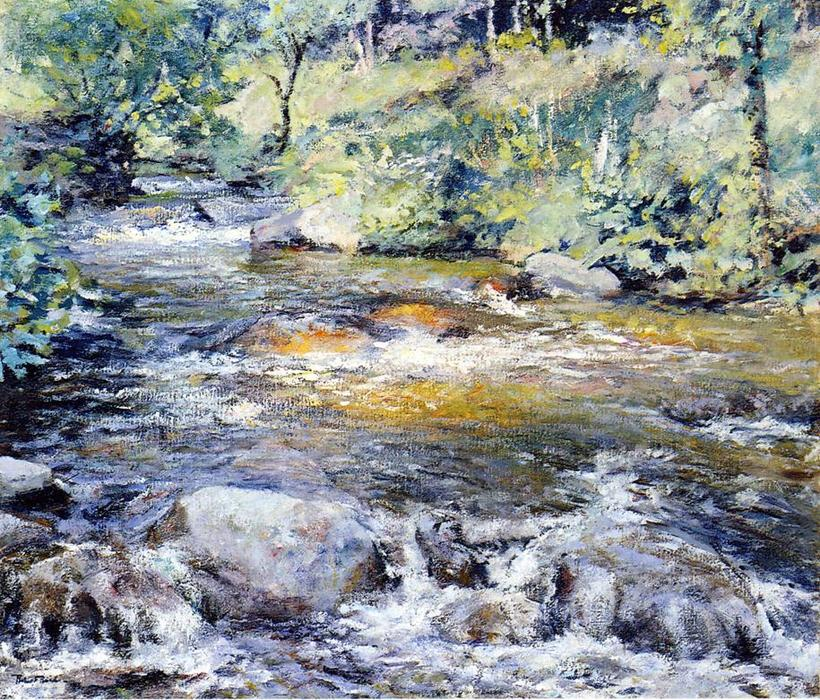 famous painting The Brook of Robert Lewis Reid