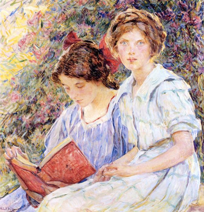 famous painting Two Women Reading of Robert Lewis Reid