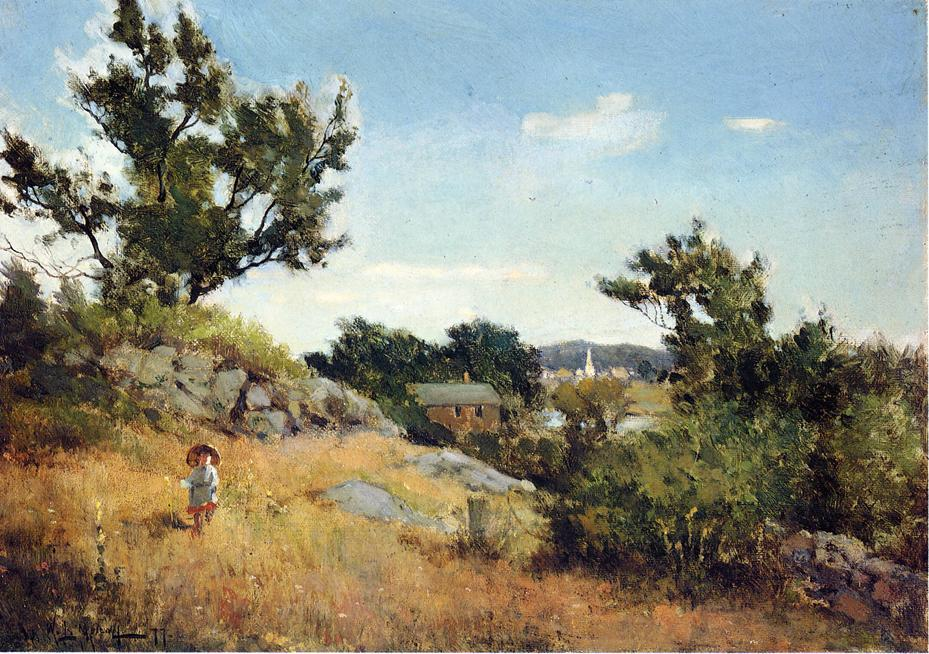 famous painting A View of the Village of Willard Leroy Metcalf