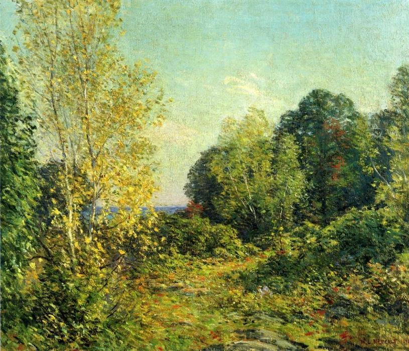famous painting Approaching Autumn of Willard Leroy Metcalf