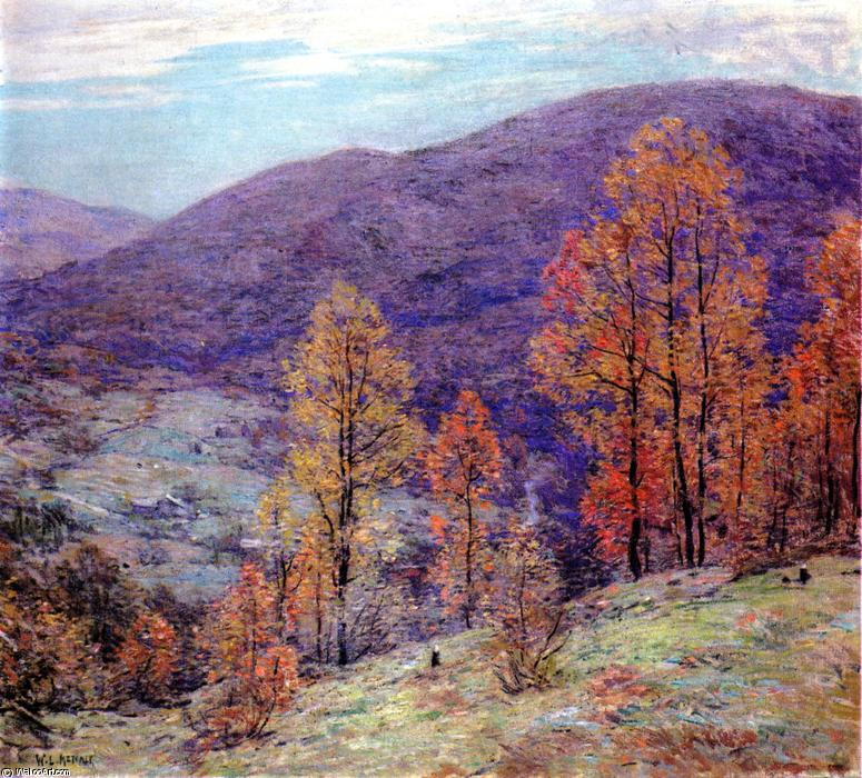 famous painting Autum Glory of Willard Leroy Metcalf
