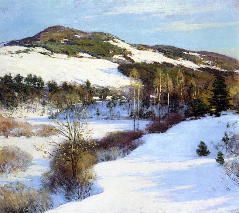 famous painting Cornish Hills of Willard Leroy Metcalf