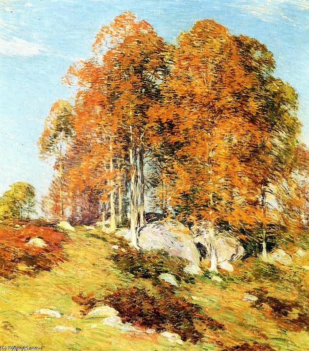 famous painting Early October of Willard Leroy Metcalf