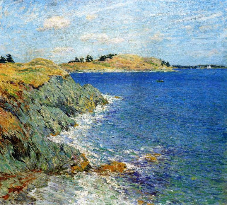famous painting Ebbing Tide, Version Two of Willard Leroy Metcalf
