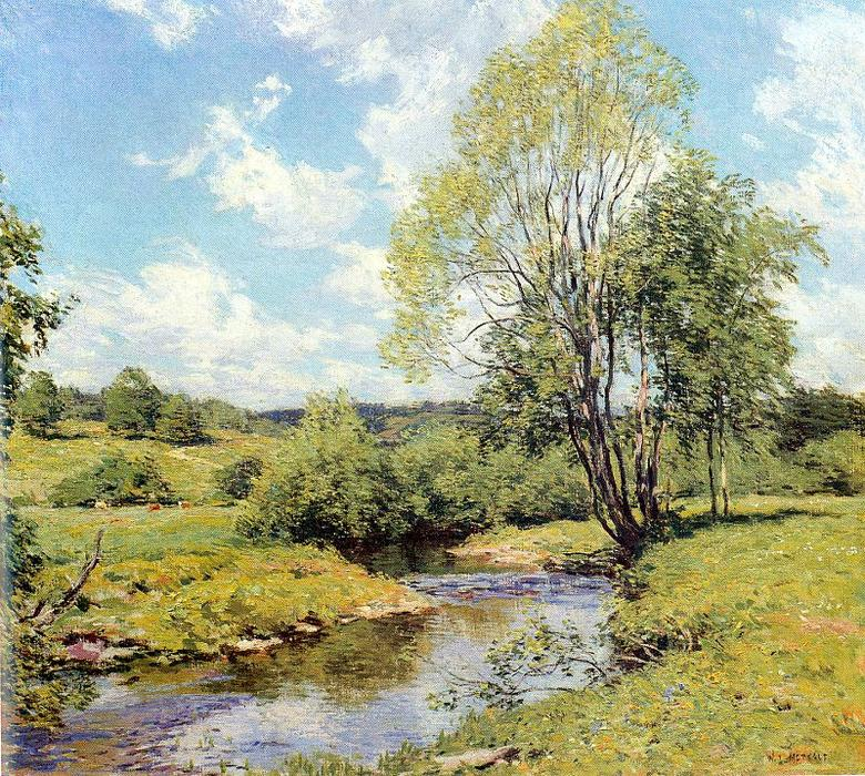 famous painting Green Idleness of Willard Leroy Metcalf
