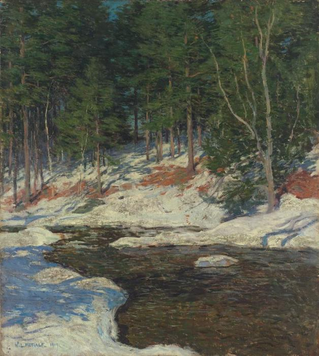 famous painting Icebound of Willard Leroy Metcalf