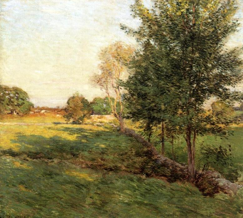 famous painting Lenghtening Shadows of Willard Leroy Metcalf