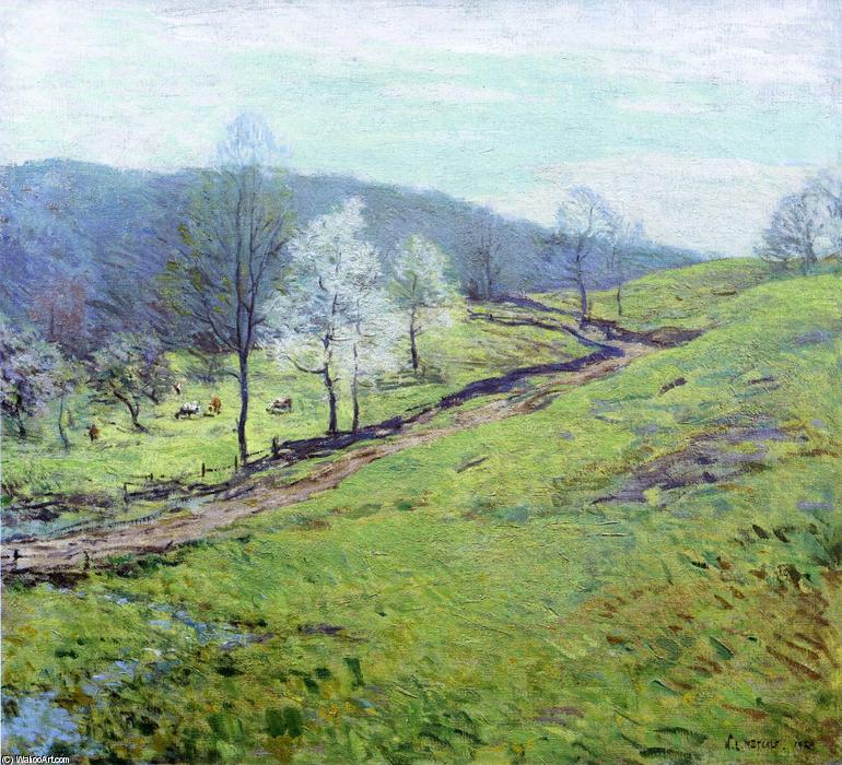 famous painting May Afternoon of Willard Leroy Metcalf