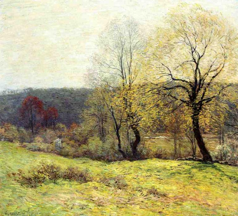 famous painting May Pastoral of Willard Leroy Metcalf