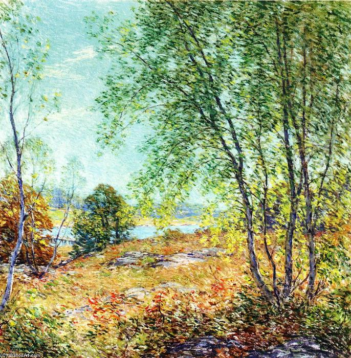 famous painting Passing Summer of Willard Leroy Metcalf