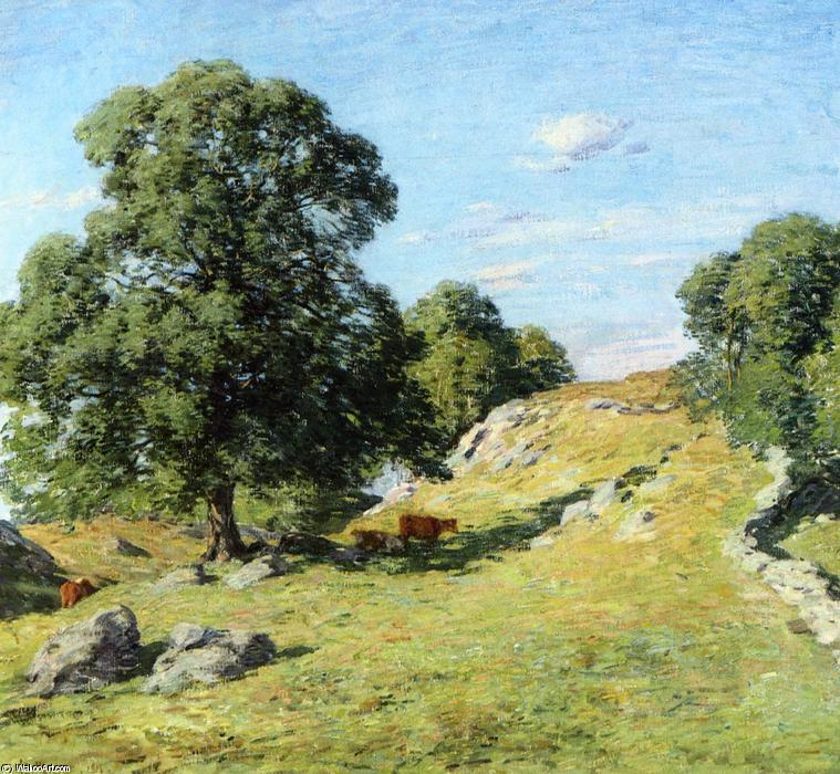 famous painting Pasture, Old Lyme of Willard Leroy Metcalf