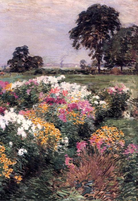 famous painting Purple, White and Gold of Willard Leroy Metcalf