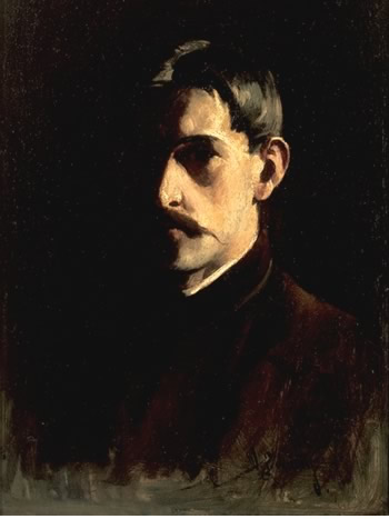 famous painting Self-Portrait of Willard Leroy Metcalf
