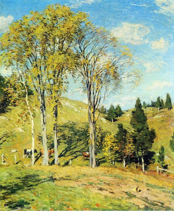 famous painting September of Willard Leroy Metcalf