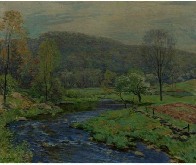 famous painting Spring of Willard Leroy Metcalf