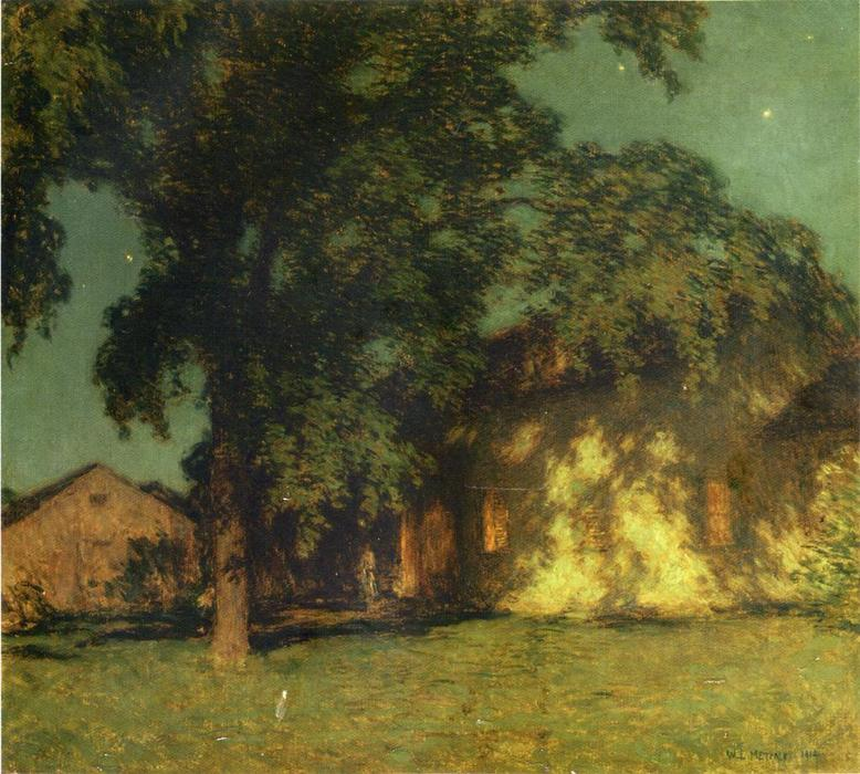 famous painting Summer Night (No. 2) of Willard Leroy Metcalf