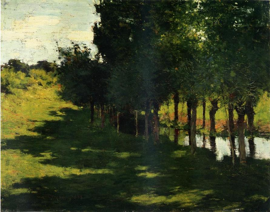 famous painting Sunlight and Shadow of Willard Leroy Metcalf