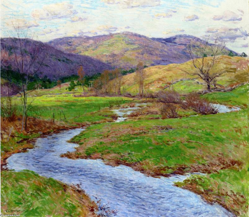 famous painting Swollen Brook (No. 2) of Willard Leroy Metcalf