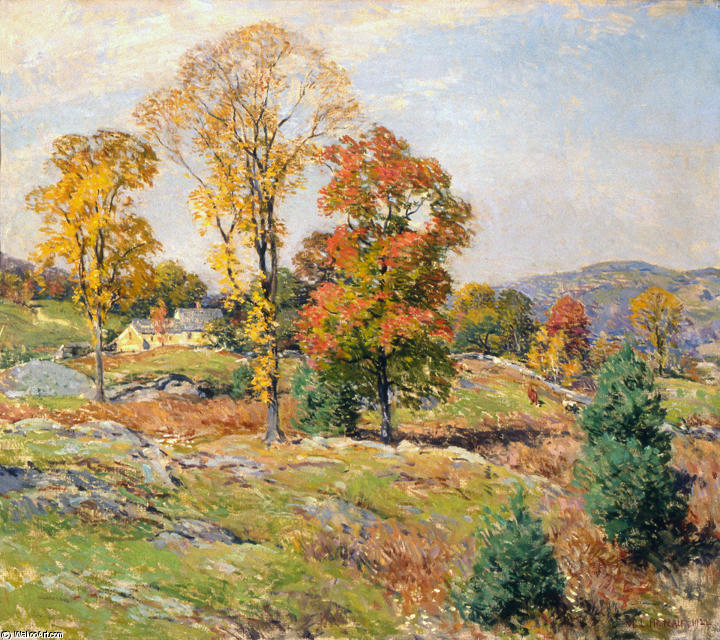 famous painting The Approaching Festival of Willard Leroy Metcalf