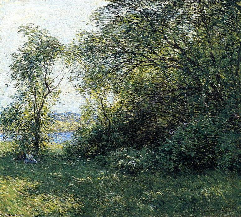 famous painting The Bower of Willard Leroy Metcalf