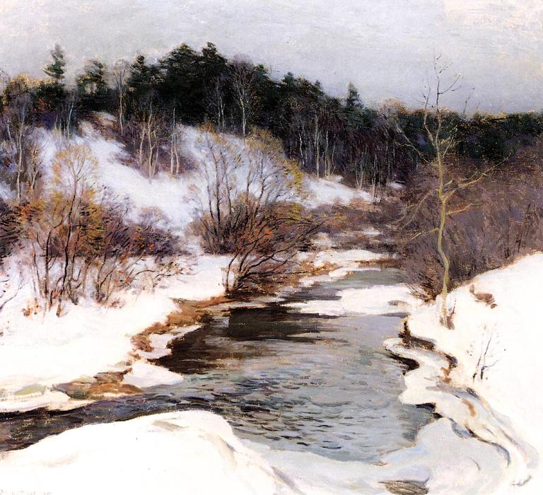 famous painting The Frozen Pool, March of Willard Leroy Metcalf