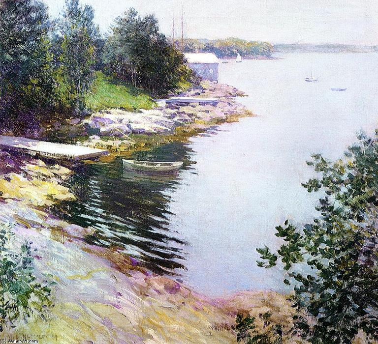 famous painting The Landing Place of Willard Leroy Metcalf