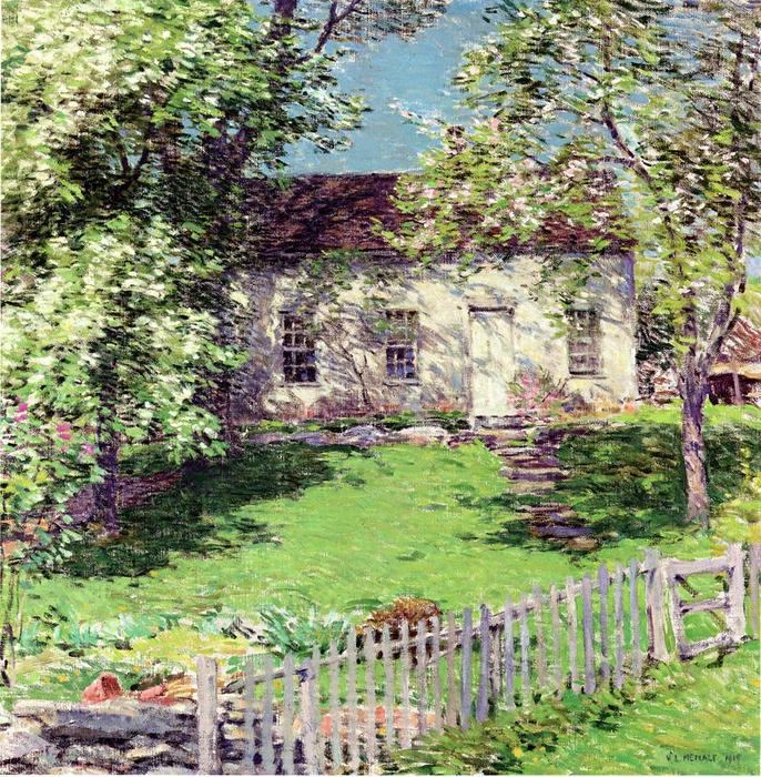 famous painting The Little White House of Willard Leroy Metcalf
