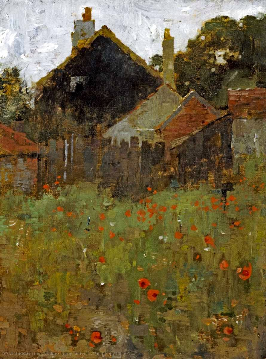famous painting The Poppy Field of Willard Leroy Metcalf