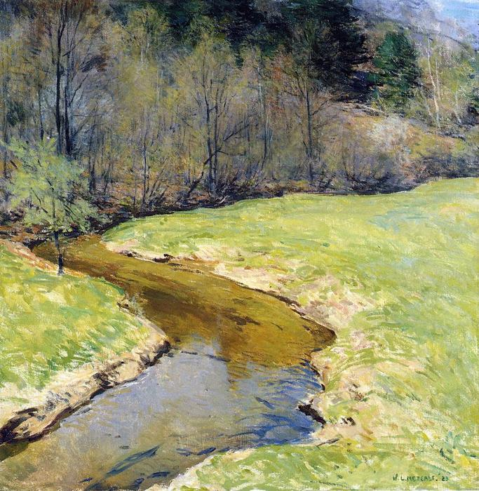 famous painting The Sunny Brook, Chester, Vermont of Willard Leroy Metcalf