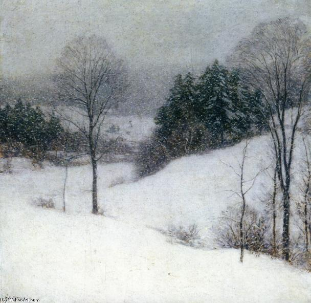 famous painting The White Veil of Willard Leroy Metcalf
