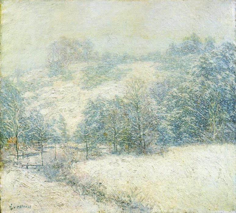 famous painting The Winter's Festival of Willard Leroy Metcalf