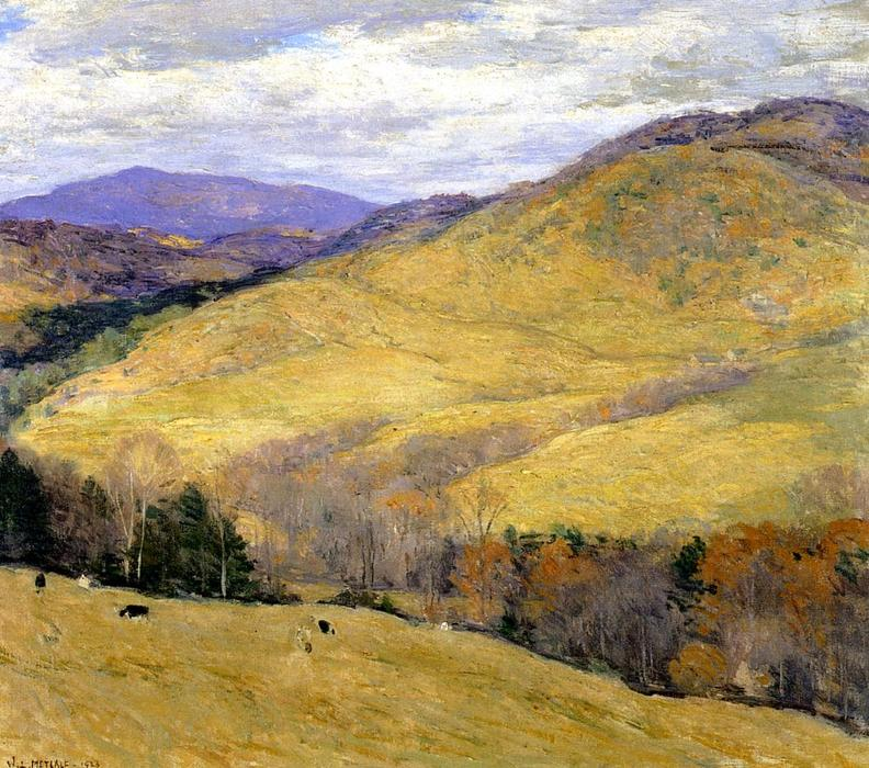 famous painting Vermont Hills, November of Willard Leroy Metcalf