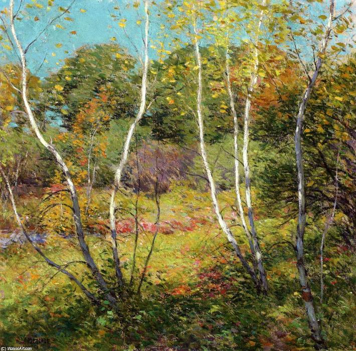 famous painting Waning Summer of Willard Leroy Metcalf