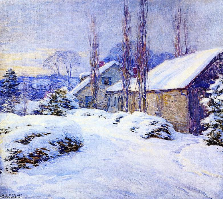 famous painting Winter Afternoon of Willard Leroy Metcalf