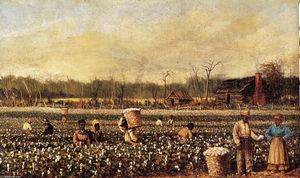 William Aiken Walker - Cotton Picking in Front of the Quarters